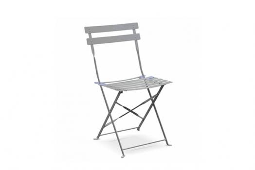Chaise bistrot acier pliante