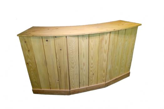Comptoir bois arrondi