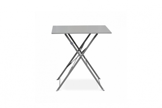 Table bistrot acier 70x70