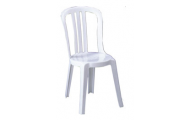 Chaise PVC blanche